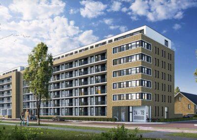 6 woningen en 78 appartementen, Rotterdam, 'Berberisweg'