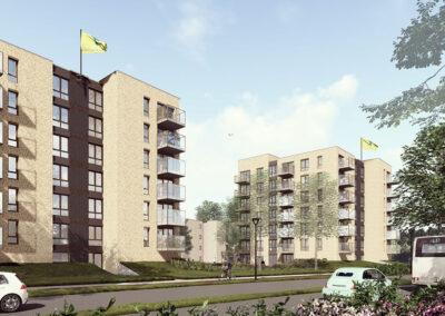 73 appartementen, Breda, 'Brahmslaan'